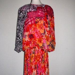 80s Diane Freis NOS fits L 2 PC Skirt Top Dress